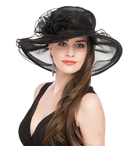 b6627717c0f08 Saferin Mujer Organza Iglesia Kentucky Derby Gorro British Tea Party Boda