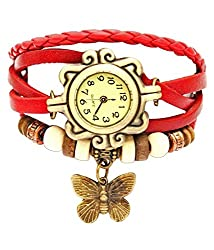 Butterfly womens watch analogue red