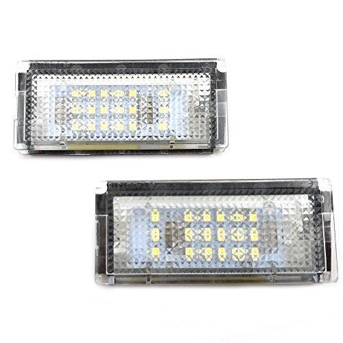 GZCRDZ 6000 Karat Weiß 18 LED Kennzeichenbeleuchtung Lampen Montage Set für Auto 3 Serie E46 4D 1998-2003 China Plate Set