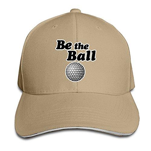 Huseki Caddyshack Be The Ball Adjustable Washed Twill Sandwich Caps Hats ()