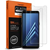 **2-Paquet** Protection écran Galaxy A8 2018 en Verre Trempé, Spigen **Easy-Install Kit** [Extreme Résistant aux rayures] *Ultra Claire* protection verre trempé Galaxy A8 2018, Protection écran Galaxy A8 2018 (590GL24014)