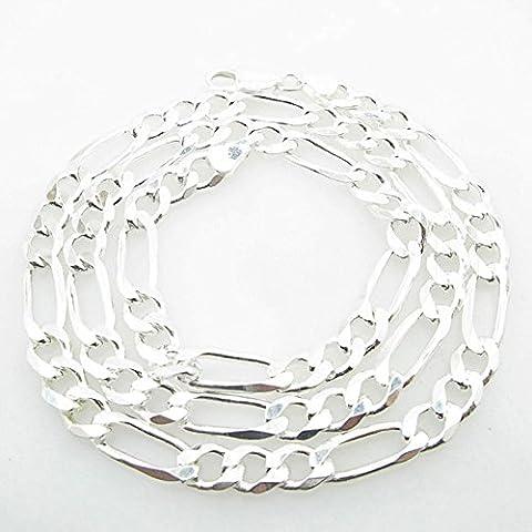 icedtime da uomo, in argento Sterling 925catena Franco Cubano Miami Corda Ciondolo Mariner Fancy Figaro catena lunghezza: 24cm larghezza: 7,5mm