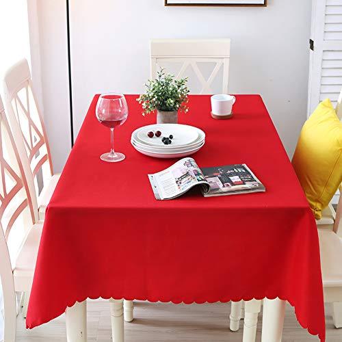 Nclon Volltonfarbe Polyester Tischdecke Tischtuch tischwäsche, Ideal für Buffet-Tisch, Auf...