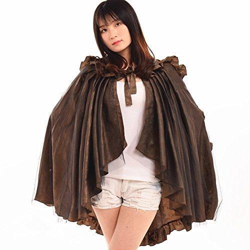 BLESSUME Mujer Vendimia gótico Steampunk Cordón Gasa Brocado Afueras capa Salir enfadado Bullicio, Uno tamaño (Multicolor)