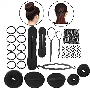 CHRONEX™ Hair Styling Accessories Kit Combo Set of 8 different accessories - Black