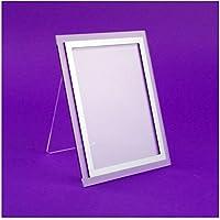 Faberplast Portafotos, Metacrilato, Transparente y Gris, 13x18x10 cm