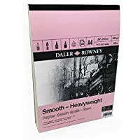 Daler Rowney - Smooth Heavyweight Sketchbook - 220gsm - 25 Pages - A4 Portrait - Made in England