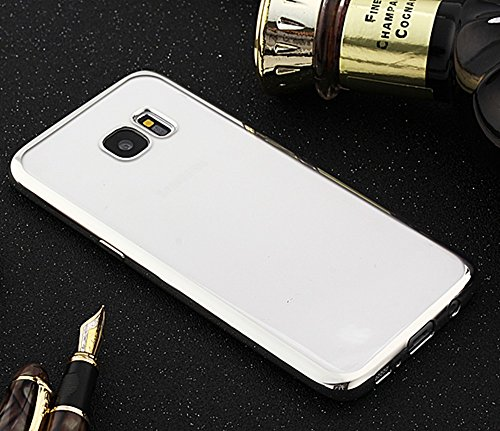 Für Samsung Galaxy S7 Edge Cover Case Ultra Thin Transparent Galvanisieren TPU Gel Back Cover Soft Schützende Stoßfänger Abdeckung ( Color : C ) D