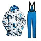 YFF Men's Windproof thermique imperméable veste et pantalon de Snowboard définit...