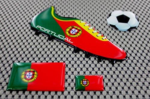 Preisvergleich Produktbild Portugal World Cup Fußball Fußball Schuh 3D Aufkleber Aufkleber Set