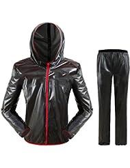 Latinaric Herren/Damen Wasserdicht Regenbekleidung Anzug Set Regenjacke Regenhose für Fahrrad