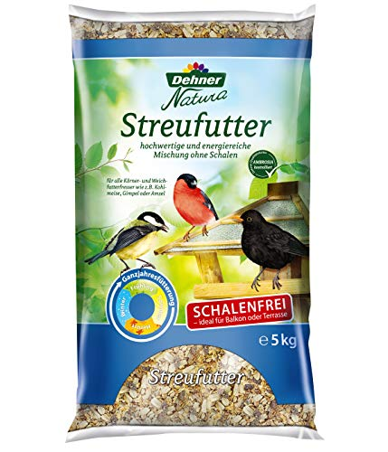 Dehner Natura Wildvogelfutter, schalenfreies Streufutter,  5 kg -