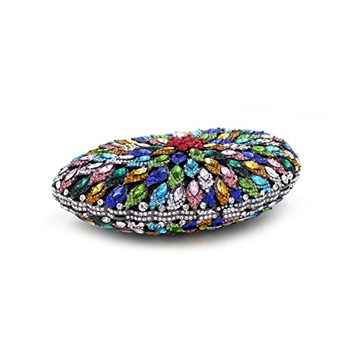 Damen Abend Paket Diamant Rhinestone-Diamant-Diamant-Wallet Bridesmaid Taschen Tragbare Bankett-Beutel color 1