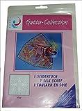 ARTY'S GUTTA COLLECTION - Motiv: Viva - Pongé 05, ca. 90x90cm, rollierte Ränder (Gutta schwarz)