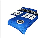 Doctor Who 33,2 x 25,2 x 5,2 cm doble funda de edredón, azul