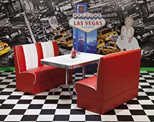 American Diner Furniture 50s Style Retro Table And Red