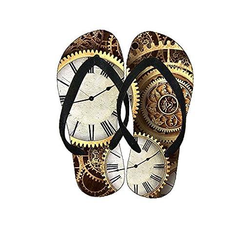 Generic Plastics Guy Loveliness Flip-Flops Design Clock Wheel