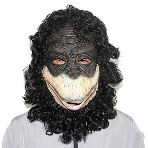(Gorilla Head Cover Außenhandel Export Latex Tier Maske Vollkopf Affe Halloween Requisiten)