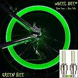 Schildkröt Funsports Wheel-Bee LED Fahrrad Ventillicht, Grün - 2 Stk, wertiges Alu Gehäuse, Reifen-Licht, Ventilkappe, Lampe Radventil, Beleuchtung Rad, 950031