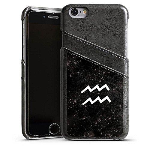 Apple iPhone 4 Housse Étui Silicone Coque Protection Signes du zodiaque Verseau Futur Étui en cuir gris