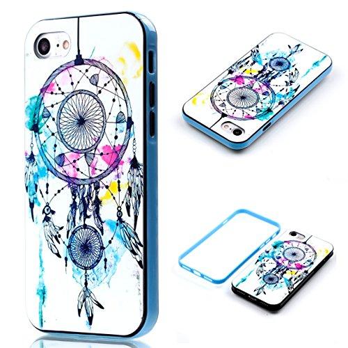 Apple iPhone 8 4.7 Hülle, Voguecase Schutzhülle / Case / Cover / Hülle / 2 in 1 TPU Gel Skin (lächelndes Gesicht 02) + Gratis Universal Eingabestift Strohhut