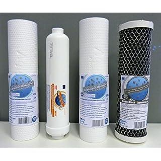 1 x Filtersatz für 5-stufige Umkehrosmose Wasserfilter 500 GPD / 300 GPD Osmose für 10 Zoll Standard Gehäuse