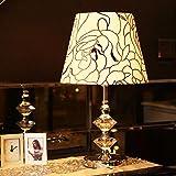 Continental Stativ Tischlampe moderne minimalistische Dekor Hochzeitsmode kreativen Künste Flanell Kristall Tischlampe Schlafzimmer Nachttischlampen