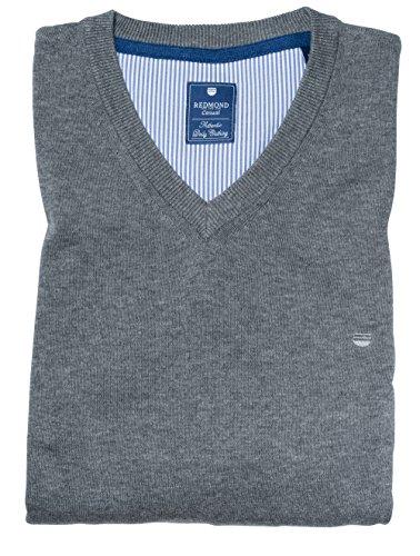 Redmond Pullover V-Neck grau, Größe: XL