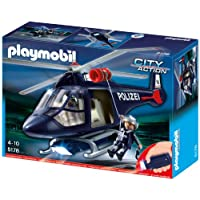 Playmobil 5178Police Helicopter with LED Search Light