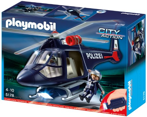 Plamobil City Action - Police helicopter with LED lights (5183)