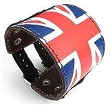 Jirong Manchette en cuir femmes de bracelet de cuir, large ceinture Bracelet Punk Rock Style pour Hommes Femmes Sl2528 (Brown)