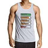 N4227V Camiseta sin Mangas Horario de alimentación semanal (Large Blanco