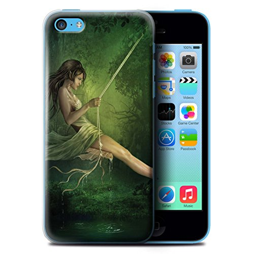 Officiel Elena Dudina Coque / Etui pour Apple iPhone 5C / Bain Caché Design / Un avec la Nature Collection Balançoire Étang