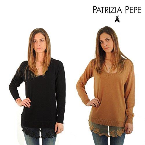 Patrizia Pepe maglione donna tinta unita 8M0288AH32 (2, TOFFEE)