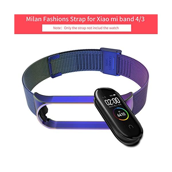 BDIG Correa Compatible Xiaomi Mi Band 4 Correas Metal,Pulsera de Acero Inoxidable Agradable para Mi Band 4 Correa (No Host) 3