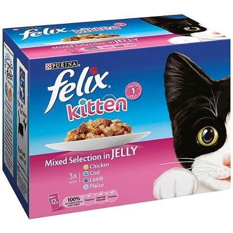 Felix gatito selección mixta de jalea bolsas - 8 x (12 x 100 g)