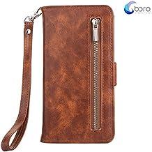 Custodia portafoglio BORA iPhone 6/6s con custodia posteriore smontabile, slot per carte, tasca di contanti, visione facile, stile Folio, protegge lo schermo dal graffio.