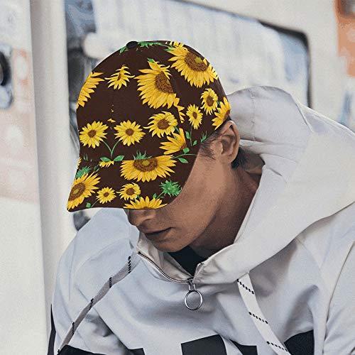 Kappe für Männer Painted Sunflower XL Ball Caps für Männer Baumwolle Soft Fits Unisex Hip-Hop Sport Sommer Strand Aktivitäten Baseball Hüte -