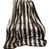 Fell Optik Kuscheldecke von JEMIDI Wohndecke Decke Sofadecke Felldecke Kuschel Decke (Fell Optik Decke Braun 200cm x150cm)