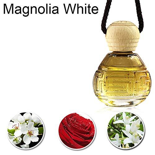ZYGJ Auto Lufterfrischer Flasche hängen Anhänger Automobile Innenraum Duft Geruch Geruch Diffusor Lufterfrischer Zubehör,Magnolia White - Magnolia Glas-anhänger
