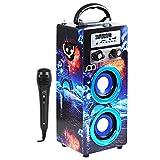 Music Life Altavoz Karaoke con Micrófono Bluetooth Portátil inalámbrico Nuevo Modelo Modo Musica Pop/ROK/Normal Lector USB Control Remoto,Smartphones Android