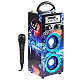 Altavoz Karaoke con Micrófono Radio FM Portátil Bluetooth Inalámbrico USB TF Card Recargable con Remoto