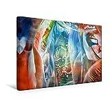 Calvendo Premium Textil-Leinwand 45 cm x 30 cm Quer, Blickwinkel Horizonte | Wandbild, Bild auf Keilrahmen, Fertigbild auf Echter Leinwand, Leinwanddruck: Bewusstsein erweitern Kunst Kunst