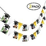 Konsait Abschlussfeier Dekoration Doktorhut Banner Garland Foto Clips für Glückwunsch Abschluss Dekorationen vom Studium, Abitur, Doktor Master Bachelo Abschluss (2pcs)