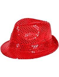 'Chapeau de style trilby pailleté Idéal en complément d''un déguisement dans le cadre d''une soirée à thème'