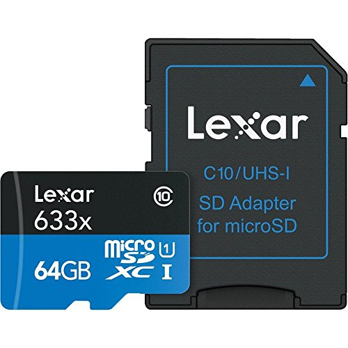 Lexar lsdmi64gbbeu633a - scheda di memoria micro sdhc 633x uhs-i con adattatore sd, 64 gb
