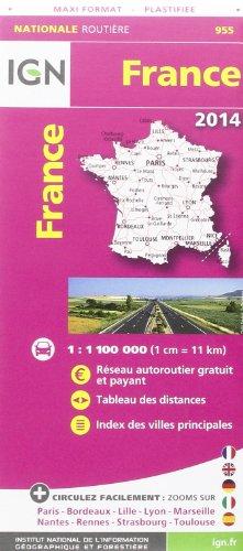 955 FRANCE MAXI FORMAT PLASTIFIEE 2014 1/1M