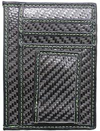 Boshiho® para Hombre de fibra de carbono pinza para billetes tipo Cartera Mate RFID bloqueo