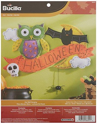 Bucilla-Aufnäher Wand aufhängen aus Filz, 19,5'von 15Zoll, 86691Baumbehang Halloween Eule
