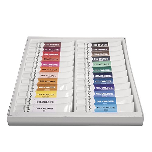 24 Leinwand (Rayher Hobby 38919000 Ölfarben-Set, 24 Farben, je Tube 12 ml, ideal für Keilrahmen, Leinwand, Malkarton, für Anfänger und Künstler)